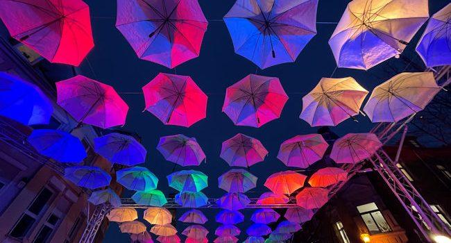 """Umbrella-Road"" in Bad Mergentheim"